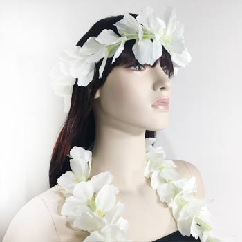 Silk Flower Leis Set