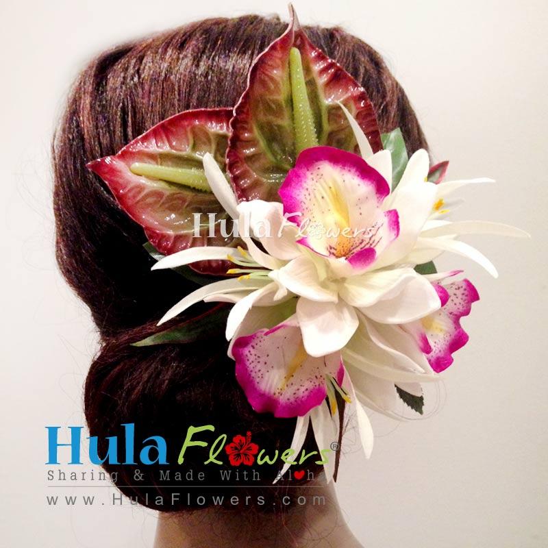 Tropical Hawaiian Wedding Flowers Hair Clip Hulaflowers