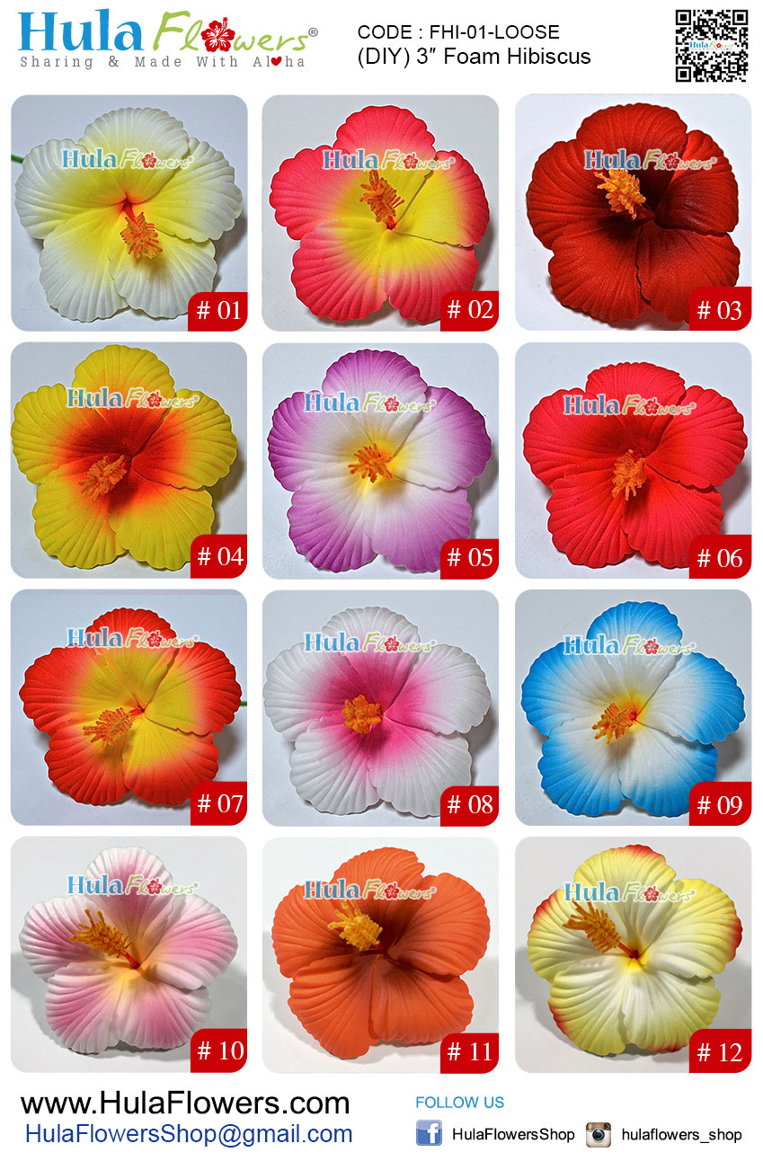 3 foam hibiscus 10 pcs hulaflowers additional information izmirmasajfo