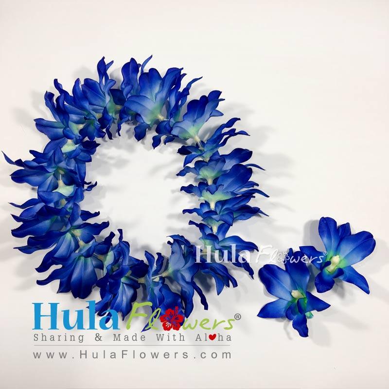 Silk blue orchid headband hulaflowers lightbox mightylinksfo