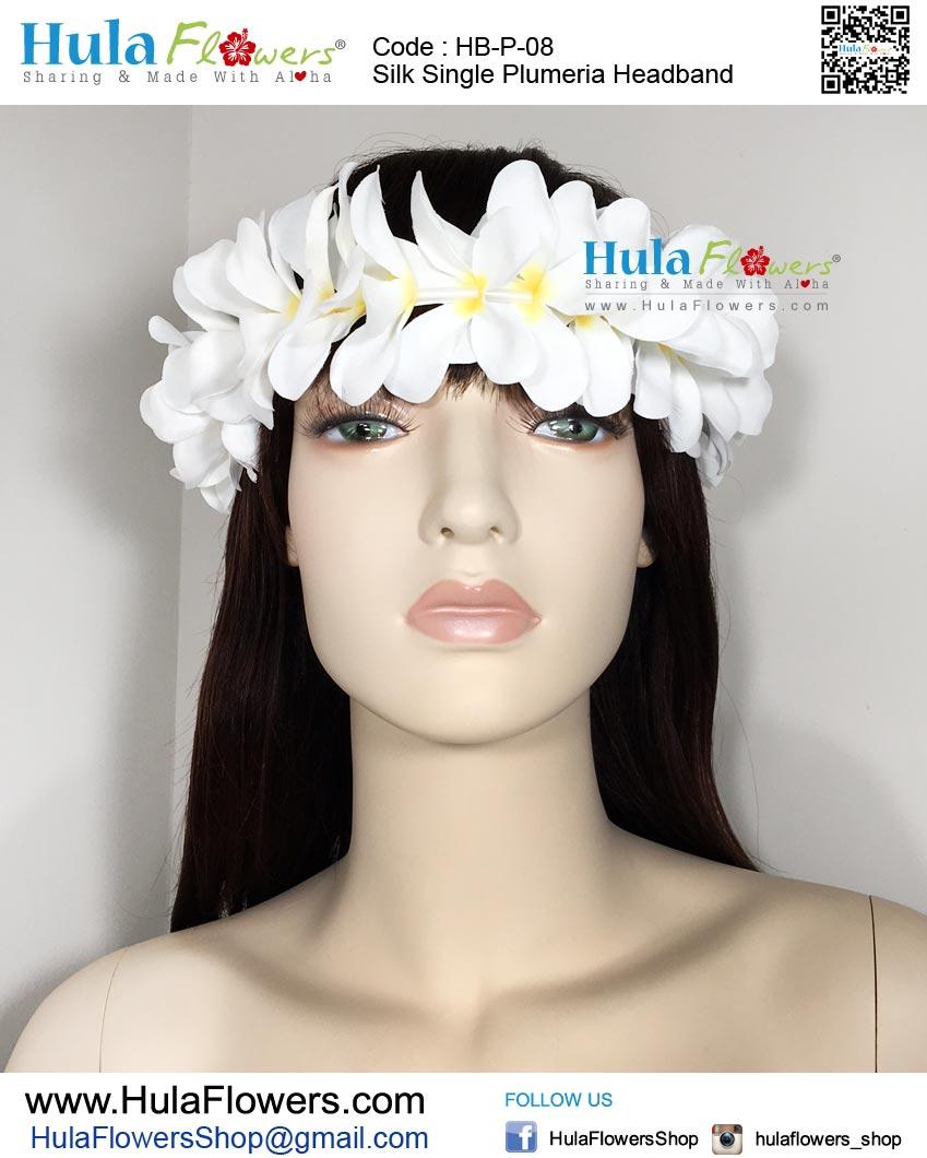 Silk Single Plumeria Headband Hulaflowers