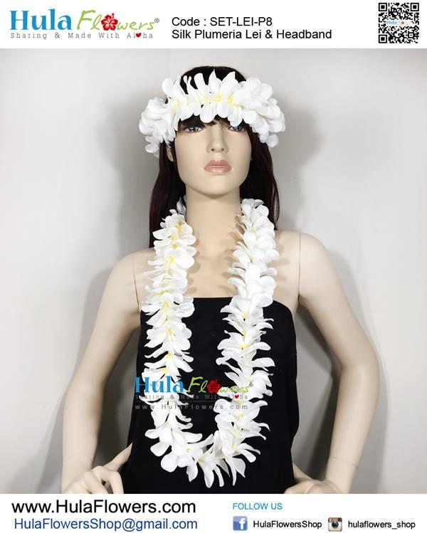 Silk Plumeria Lei Headband Hulaflowers