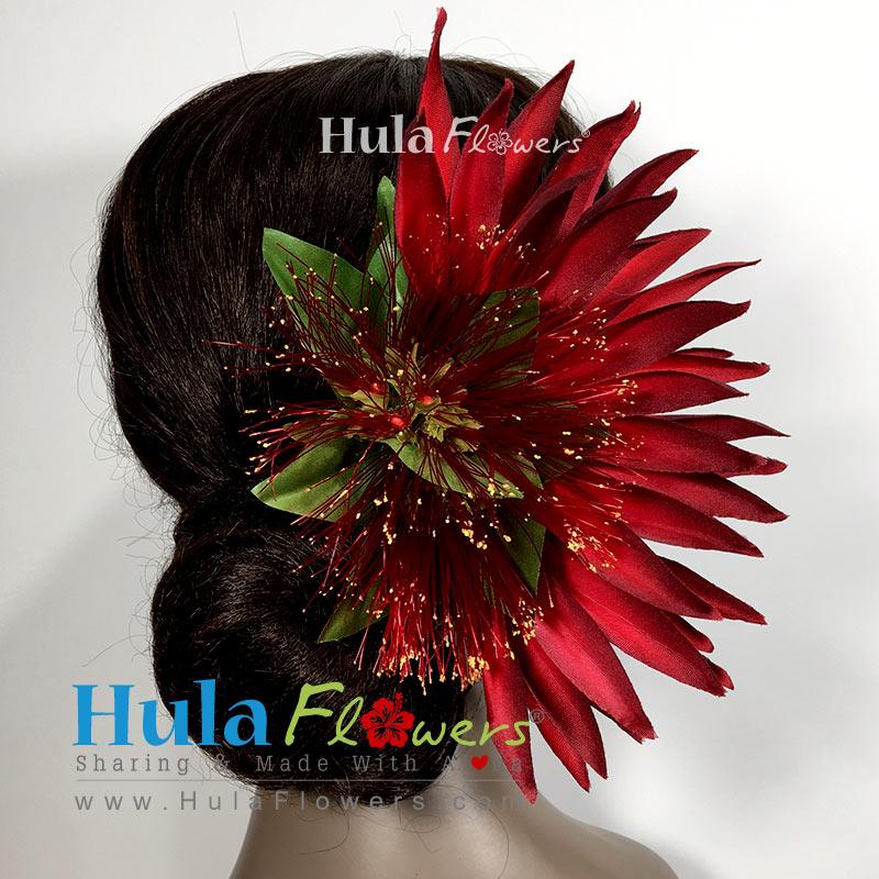 Silk bird of paradise lehua hair clip hulaflowers lightbox mightylinksfo