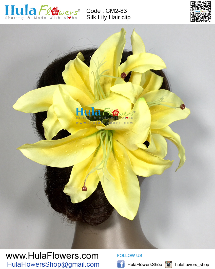 Silk Lily Hair Clip Hulaflowers