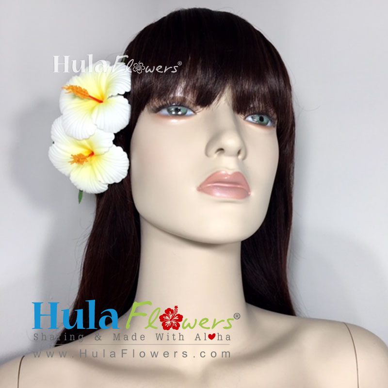 Double Hibiscus Hair Clip Hulaflowers