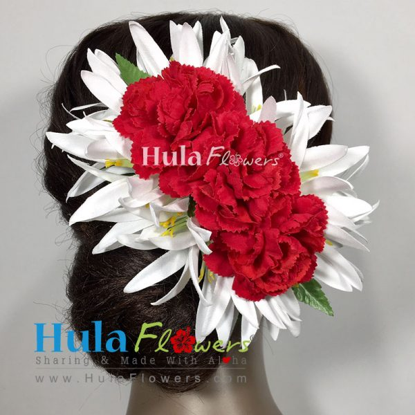 Silk spider lily carnation hair clip hulaflowers color mightylinksfo
