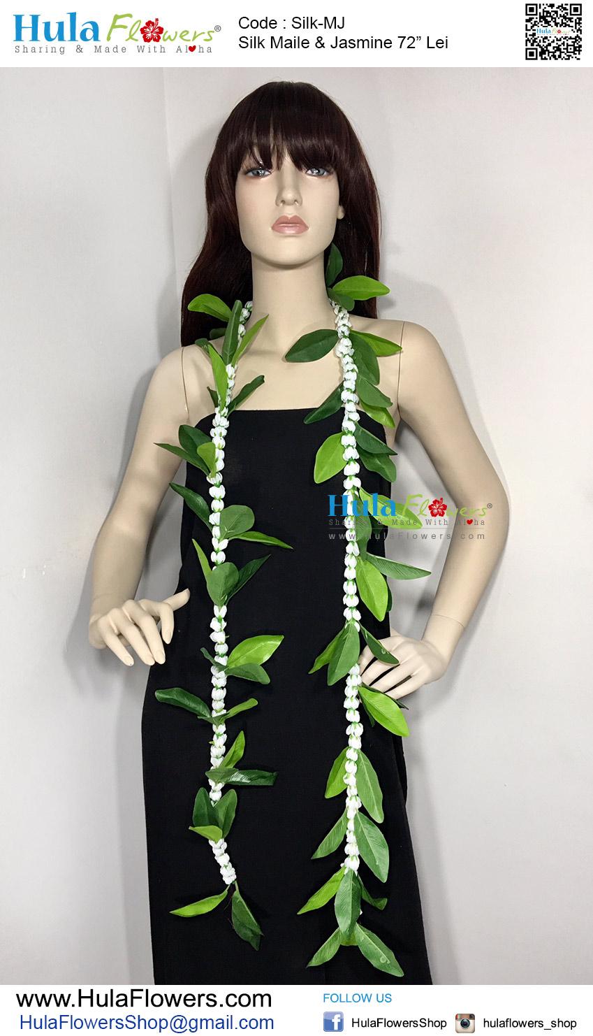 Silk Maile Jasmine 72 Lei Hulaflowers