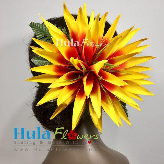 Silk yellow bird of paradise hair clip hulaflowers lightbox mightylinksfo